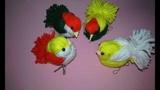 Download DIY Woolen Birds Wall Hanging for Home Decoration|Woollen Bird making|Jute Craft Idea Video