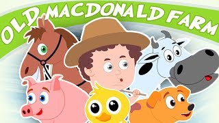 Download Old Macdonald Had A Farm | Schoolies Nursery Rhymes | Fun Cartoon Video For Toddlers by Kids Channel Video