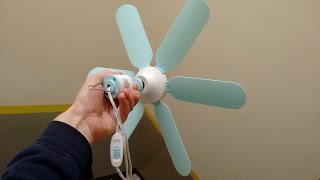 Download Mini ceiling fan with intriguing motor and wind turbine potential. Video