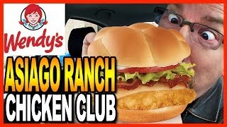 Download Wendy's Asiago Ranch Chicken Club Meal and Drive Thru Test Video
