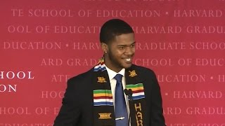 Download Harvard grad wows crowd with spoken word commencement address Video