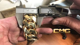 Download How a 2000 Grams Solid Gold Cuban Link Chain is Made. Video