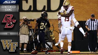 Download Boston College vs. Wake Forest Condensed Game | 2018 ACC Football Video