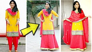 Download Convert Salwar to a Lehenga Skirt: Make your own Lehenga Suit Video