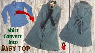 Download Shirt convert into beautiful baby Top / baby dress // by simple cutting Video
