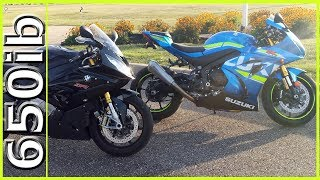 Download 2017 GSX-R1000R vs S1000RR, RSV4 RF & R1 | 184MPH+++ SMACKDOWN!!! Video