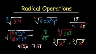 Download Simplifying Radical Expressions Adding, Subtracting, Multiplying, Dividing, & Rationalize Video