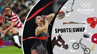 Download Football vs Rhythmic Gymnastics: Margarita Mamun & Heather O'Reilly Switch | Sports Swap Challenge Video