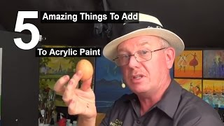 Download 5 Amazing things to add to acrylic paint | Life Hacks | Acrylic painting|#clive5art Video