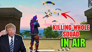 Download KILLING WHOLE PRO SQUAD IN AIR   DUO VS SQUAD WTF MOMENT 😂   FREEFIREGameplay Video