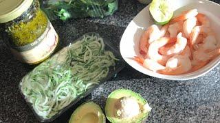 Download Chit chat + Low carb dinner (shrimp pesto zoodle bowls) Video