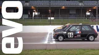 Download Renaultsport Clio & 5 GT Turbo race. Who will win? Four generations do battle. Video