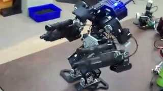 Download Two-Legged Warfare Robot With Guns - Walking Progress Video