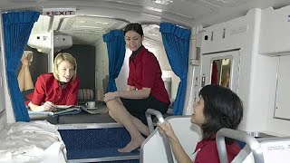 Download Secret rest cabin for pilots and flight attendants; Spare engine on Boeing 747 - Compilation Video