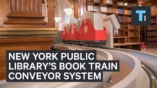Download New York Public Library installed a book train conveyor system Video