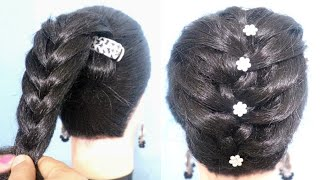 Download Very easy hairstyle with using banana clutcher   braided hairstyle   new hairstyle   easy hairstyles Video