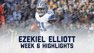 Download Ezekiel Elliott Powers to 157 Rushing Yards | Packers vs. Cowboys | NFL Week 6 Player Highlights Video