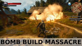 Download Witcher 3 Bomb build - massacring enemies Video