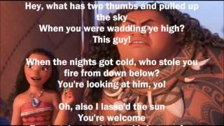 Download Dwayne Johnson - You're Welcome (Lyrics) Video