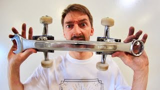 Download CAN YOU KICKFLIP THIS WRENCH SKATEBOARD?! Video