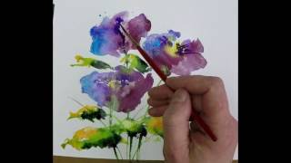 Download Beginners Loose Watercolours 'Simple Blue' with Andrew Geeson Video