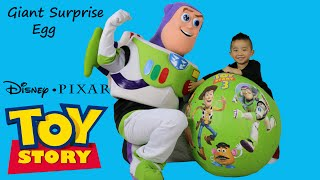 Download Disney Toy Story Super Giant Surprise Egg With Woody Buzz Lightyear Talking Toys Cars Ckn Toys Video