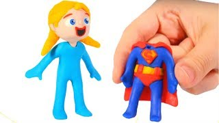 Download BABY ELSITA NEW OUTFIT ❤ SUPERHERO BABIES PLAY DOH CARTOONS FOR KIDS Video