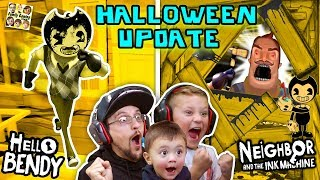 Download HELLO BENDY + NEIGHBOR & the INK MACHINE Halloween Mod! FGTEEV-ers LETS CELEBRATE! Surprise Gameplay Video