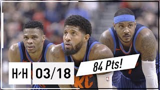 Download OKC Thunder BIG 3 Full Highlights vs Raptors 2018.03.18 - Russell Westbrook, Paul George & Carmelo Video