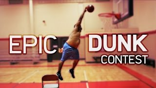 Download Fat Guy Falls Off Chair! | EPIC DUNK CONTEST Video