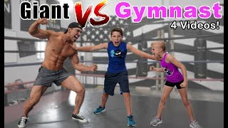 Download Gymnast vs Giant! Who is Stronger? Compilation Video
