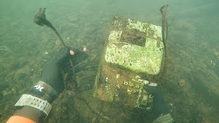 Download Found Old Cash Register in River While Scuba Diving! (Money Inside??)   DALLMYD Video