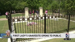 Download First lady's gravesite opens to public Video