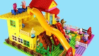 Download Peppa Pig Blocks Mega House LEGO Creations Sets With Masha And The Bear Legos Toys For Kids #42 Video