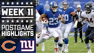 Download Bears vs. Giants | NFL Week 11 Game Highlights Video