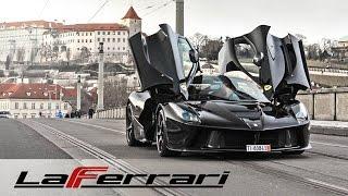 Download CRAZY Ferrari LaFerrari terrorizing Prague - powerslide, burnouts, tunnels, revs, walkaround Video