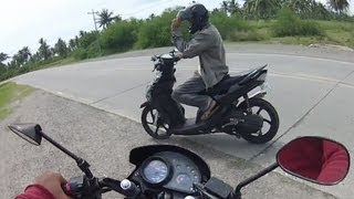 Download Honda XRM vs Yamaha MIO drag race Video