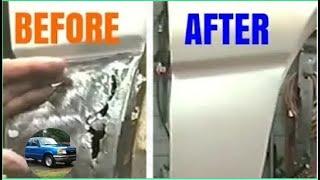 Download Lower Fender Rust Hole Repair | No Welding | Fiberglass Cloth Video
