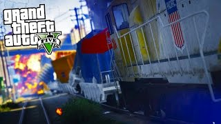 Download GTA 5 Mods - REALISTIC LONGER TRAINS MOD! FLYING TRAINS! CRAZY CRASHES! Video