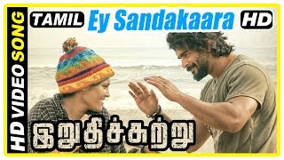 Download Irudhi Suttru Tamil Movie | Scenes | Ey Sandakaara Song | Ritika falls for Madhavan | Mumtaz Video