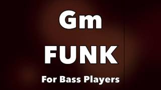 Download Funk Bass Backing Track (Gm) Video