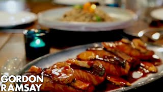 Download Teriyaki Salmon with Soba Noodle Salad | Gordon Ramsay Video