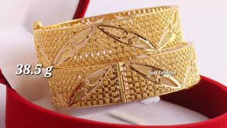 Download Latest Designer Gold BANGLE with WEIGHT 2019 Video