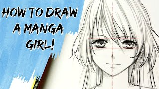 Download How to draw a Manga girl —slow tutorial Video