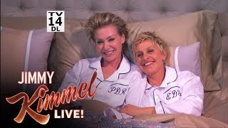 Download Jimmy Kimmel Surprises Ellen and Portia After the Oscars Video