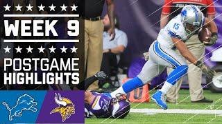 Download Lions vs. Vikings (Week 9)   Game Highlights   NFL Video