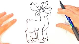 Como Dibujar Un Ciervo Para Navidad Paso A Paso Dibujos Kawaii