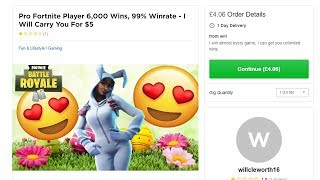 Download So I hired Fortnite ″Pros″ on Fiverr to help me win... Video