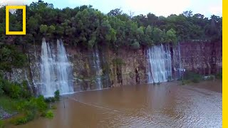Download This Empty Quarry Transformed Into a Waterfall-Filled Lake   National Geographic Video