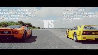 Download Hypercar Shootout - P1, F40, Ford GT, Aventador, 12C, 9ff Video